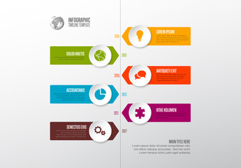 Colorful Timeline Infographic with Icons