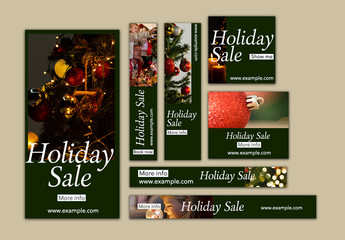 Holiday Sale Web Banners Layout