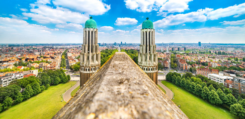 Papiers peints Bruxelles Panorama of Brussels from the National Basilica of the Sacred Heart, Belgium