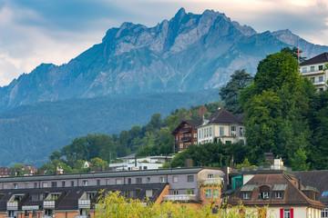 Lucerne. Mount Pilatus at Dawn.