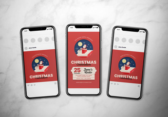 Christmas Event Social Media Layout with Santa