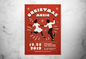 Christmas Music Event Flyer Layout
