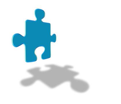 Blauen Puzzl.