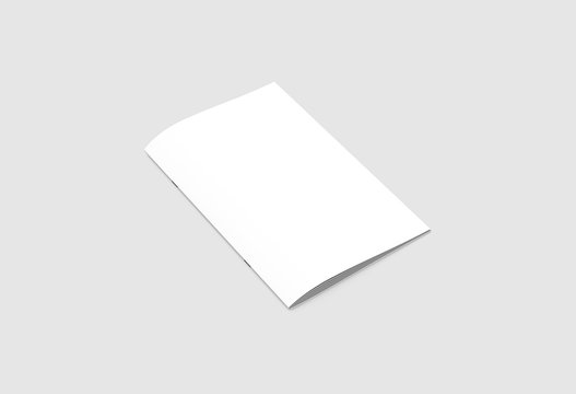 Brochure or Magazine Mock up isolated on light gray background.3D rendering