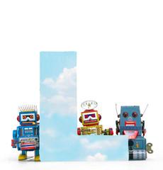Wall Mural - big letter L cloud computing
