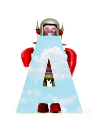 Fototapete - big letter A cloud computing