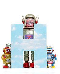 Fototapete - big letter  H cloud computing