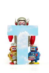 Fototapete - big letter T  cloud computing