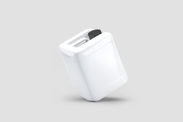 Liquid laundry detergent Package, realistic blank plastic White Canister.3D rendering.