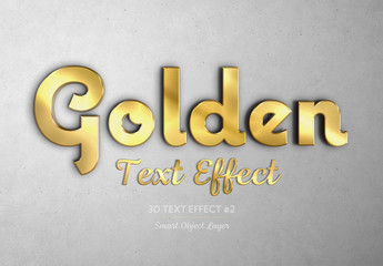 Gold Embossed 3D Text Effect