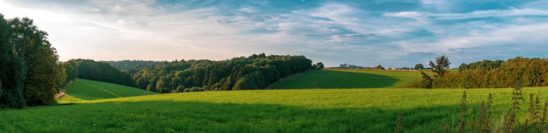 German Rural Landscape in Wuppertal Ronsdorf
