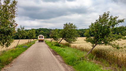 Reise mit dem Planwagen in Thüringen, Deutschland