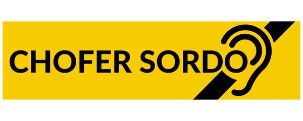 Chofer Sordo (Letrero)