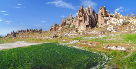 Cappadocia - Goreme Open Air Museum, view from the top. Turkey