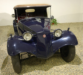 Sport Convertible car T 57, produced in years 1931-1936. Exposition of the Museum of Technology in Koprivnice, Moravian-Silesian Region, Czech Republic