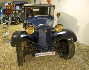 Four-seater Sport Convertible car Tatra 52, produced in years 1931-1939. Exposition of the Museum of Technology in Koprivnice, Moravian-Silesian Region, Czech Republic