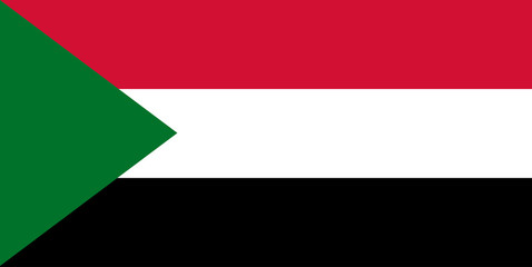 National Sudan flag, official colors and proportion correctly. National  Sudan flag. Vector illustration. EPS10.  Sudan flag vector icon, simple, flat design for web or mobile app. Wall mural