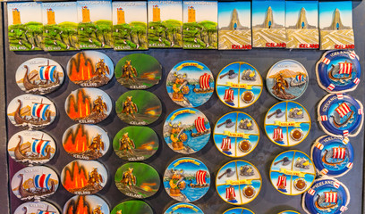 Icelandic Magnets Shopping Street Reykjavik Iceland