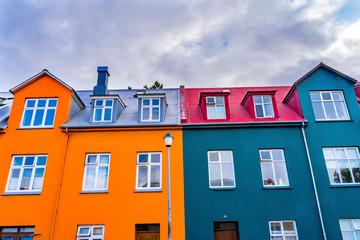 Colorful Houses Street Reykjavik Iceland