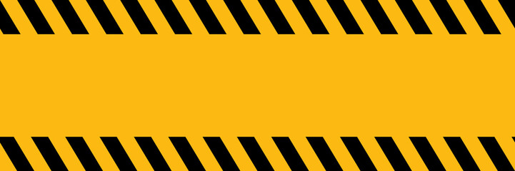 horizontal black and yellow no entry sign background with blank