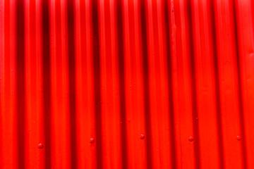 Red Orange Corrugated Lead Metal Abstract Background Reykjavik Iceland