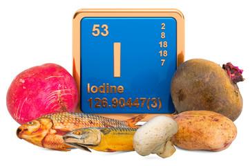 Fototapeta Foods Highest in Iodine, 3D rendering obraz