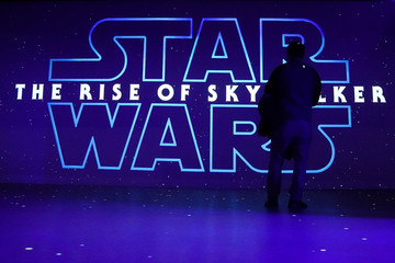 "A man watches a trailer for ""Star Wars: The Rise of Skywalker"" at the Dolby store in the Manhattan borough of New York City"