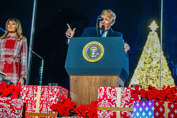 U.S. President Trump attends National Park Service's 97th annual National Christmas Tree Lighting Ceremony on the Ellipse in Washington