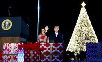 U.S. President Trump attends the National Park Service's 97th annual National Christmas Tree Lighting Ceremony on the Ellipse in Washington