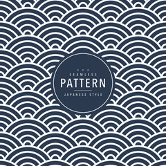 Japanese seamless wave pattern. Traditional Chinese texture. Oriental New Year background. Vector illustration.