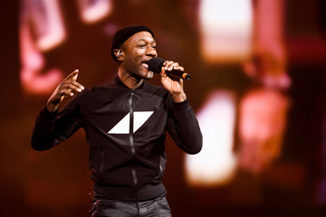 Aloe Blacc on stage at the Avicii Tribute Concert For Mental Health Awareness at Friends Arena in Stockholm