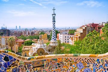 Foto auf Acrylglas Barcelona Park Guell in Barcelona, Catalonia, Spain