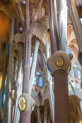 Ornate Columns in Sagrada Familia