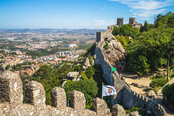 Castle of the Moors at Sintra, Portugal
