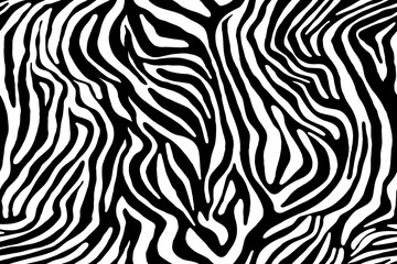 Wall Murals Zebra ornament. Seamless pattern
