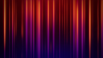 Artistic Colorful Orange Neon Glowing Vertical Lines Against Red Blue Background