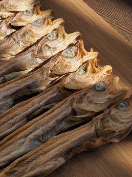 한국의 말린 생선 작은 명태, 노가리