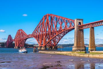 Forth Bridge across Firth of Forth in edinburgh