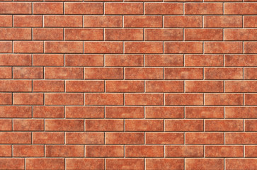 The red brick wall texture on the grunge background can be used for interior decoration.