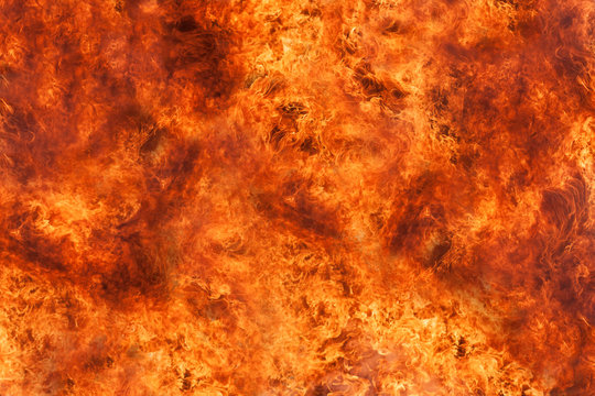 Flame surface picture Blazing flames with high heat. Abstract image for background.