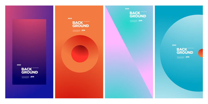 New 2020 Cover and Poster Design Template for Magazine. Trendy Abstract Colorful Geometric and Curve Vector Illustration Collage with Typography for Cover, book, social media story, and Page Layout