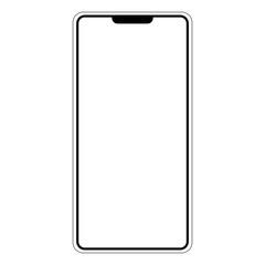 Silhouette shape mobile phone smartphone I am, vector shape I am smartphone mobile phone