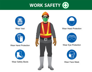 safety equipment, construction concept,Vector illustration