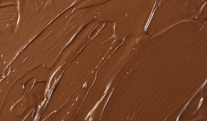 Cream chocolate spread surface, background and texture