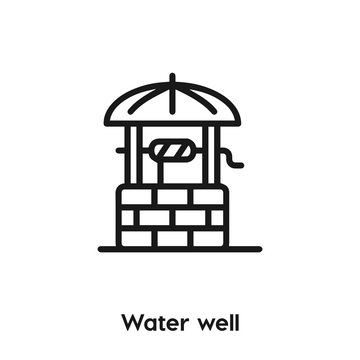 water well icon vector. water well icon vector symbol illustration. Modern simple vector icon for your design. water well icon vector