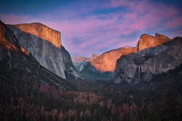 Keuken foto achterwand Grijze traf. Yosemite & Fall
