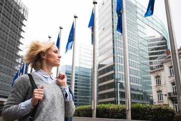 Foto op Canvas Brussel European Commission headquarters in Brussels, Belgium .