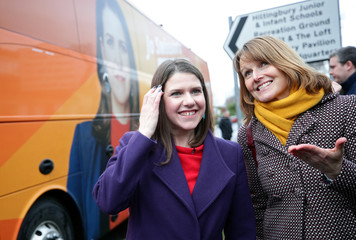 Britain's Liberal Democrats leader Jo Swinson visits Parkview Community Playgroup in Hampshire