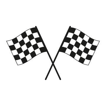Racing flag. Simple vector illustration