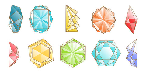 Diamond vector set collection graphic clipart design